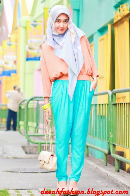 Color Block Ala Dian Pelangi Rainbow Chic
