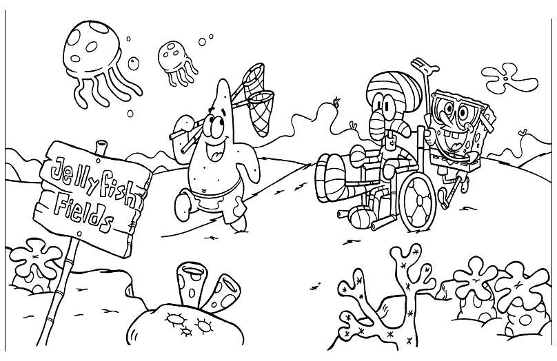 Раскраски для малышей спанч боб