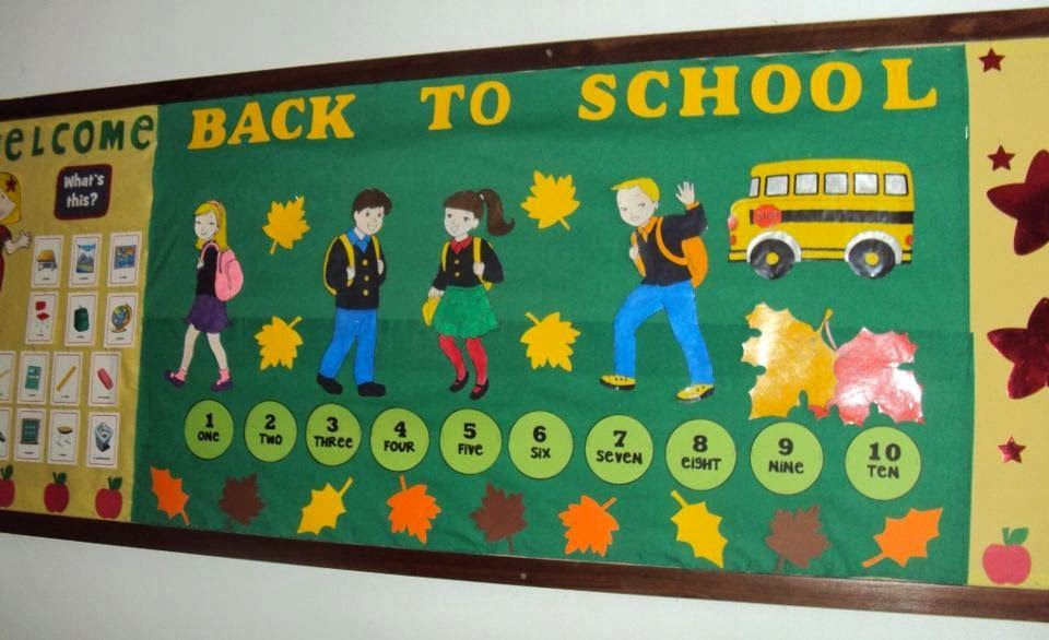 Primary bulletin board ideas search results calendar 2015 for Back to school board decoration