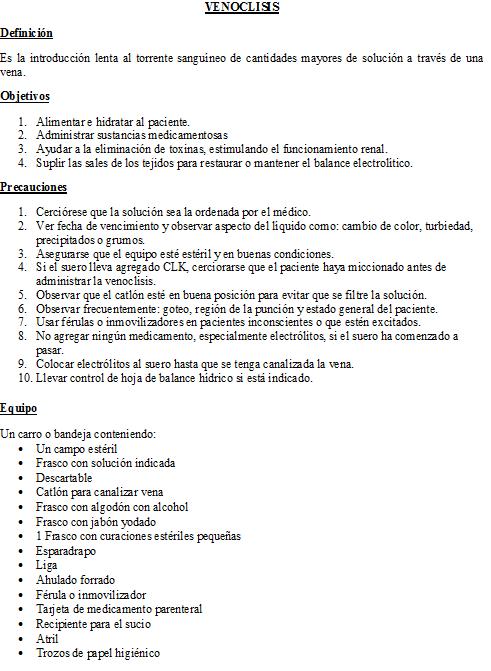 Baño De Regadera Fundamentos De Enfermeria:FUNDAMENTOS DE ENFERMERIA: Venoclisis