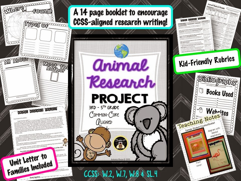 http://www.teacherspayteachers.com/Product/Animal-Research-Project-Common-Core-1118570