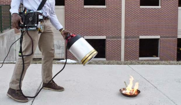 All About That Bass: Sound-based FIre Extinguisher Puts Out Flames