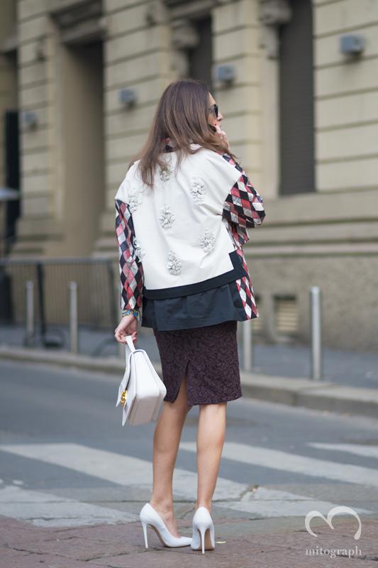 mitograph Viviana Volpicella Milan Fashion Week 2013 2014 Fall Winter MFW Street Style Shimpei Mito