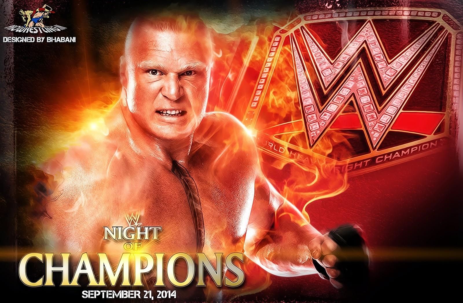 "Wallpaper » Download WWE ""Night Of Champions 2014"" HQ Wallpaper (feat. Brock Lesnar)"