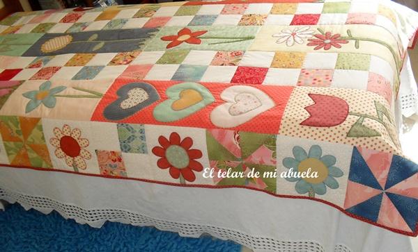 El telar de mi abuela colcha patchwork - Como hacer colchas de patchwork ...