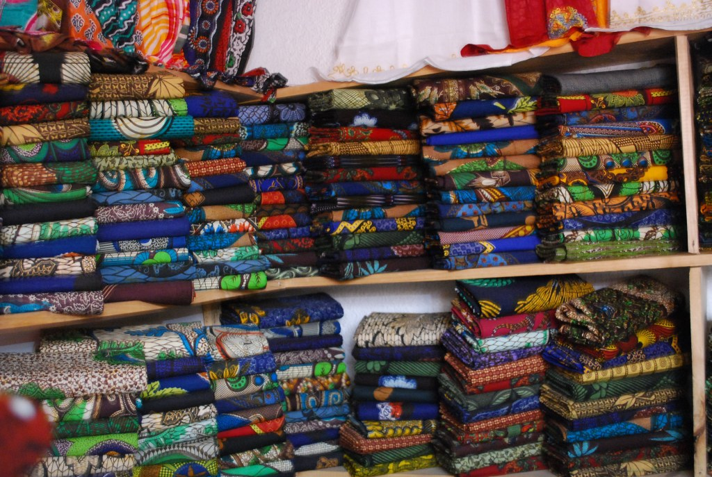 Kanga creative fabric shopping in arusha tanzania for Fabric retailers