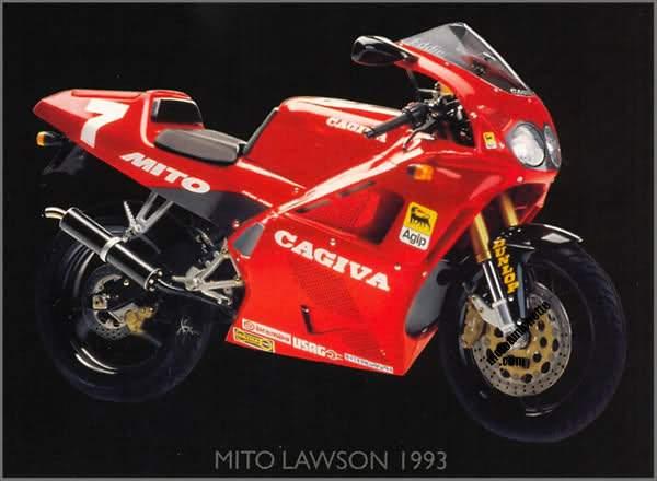 Aquellos maravillosos años. Cagiva+Mito+II+Lawson+Replica