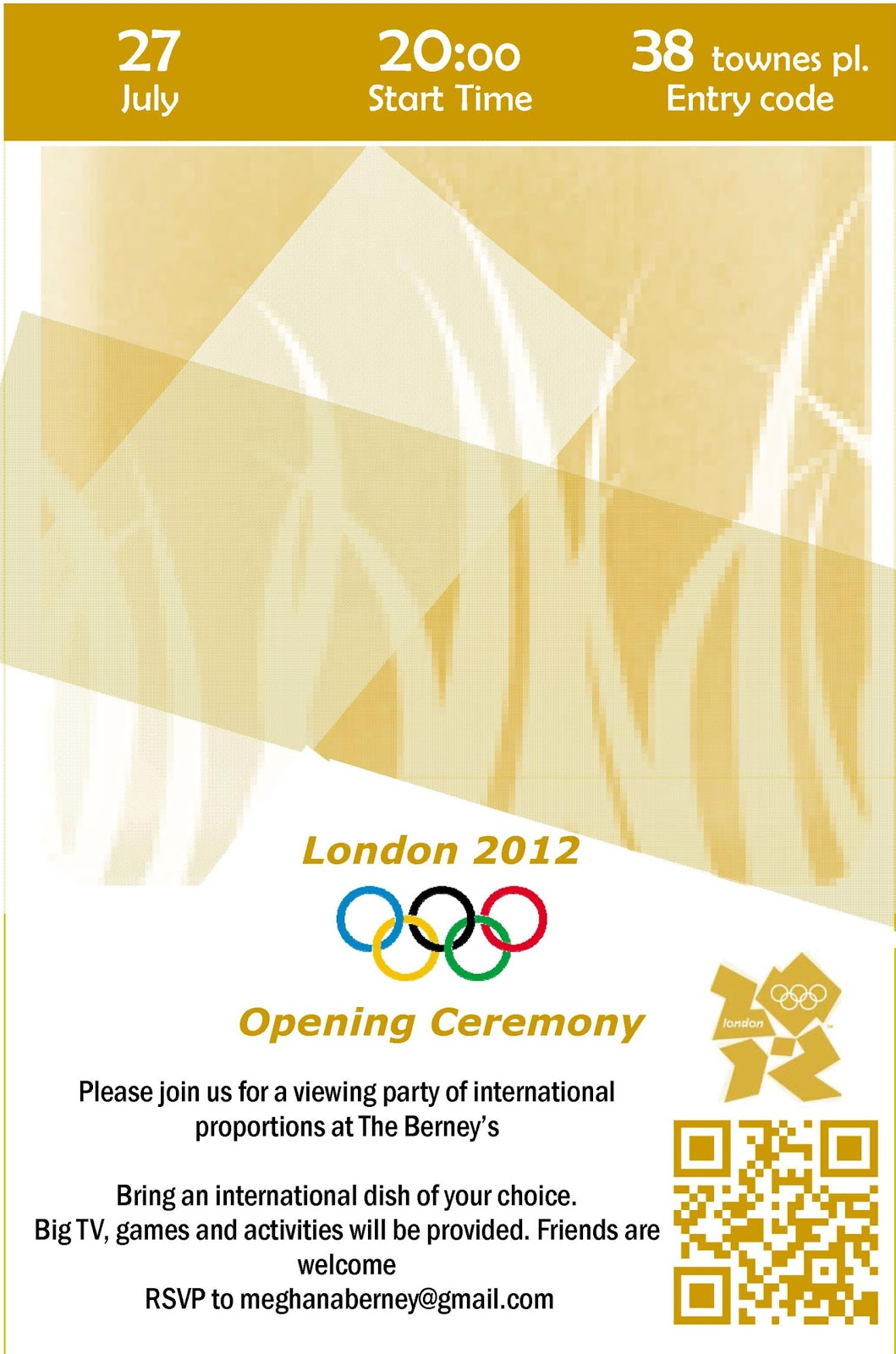 Another crafty day opening ceremony viewing party invitations opening ceremony viewing party invitations stopboris Gallery