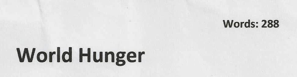 essays on ending world hunger