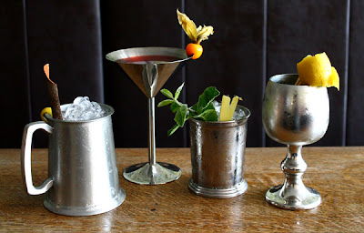 Cocktails served in a range of Pewter vessels, from Klaremont