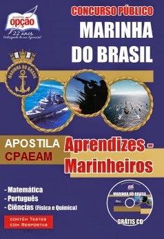 Apostila curso da Marinha do Brasil concurso admissão CPAEAM Aprendizes-Marinheiros 2015.