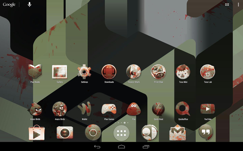 kitkat zombie launcher theme v231 apk pro apk download