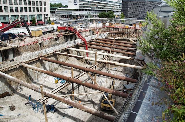Baustelle Upper West, Hotel, Büro, Einzelhandel, (ursprünglich: Atlas Tower), geplante Höhe: 118 Meter, Breitscheidplatz, 10623 Berlin, 04.06.2014