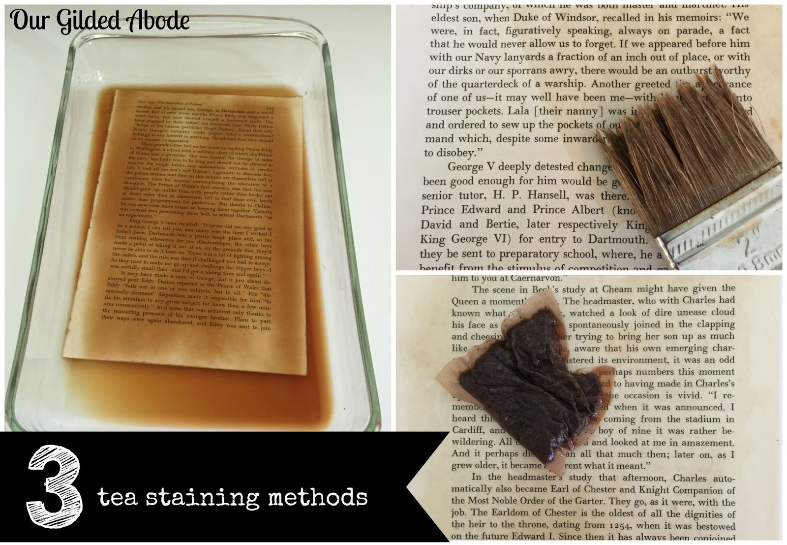 How To Make A Book Cover Look Vintage : Tutorial how to make book pages look old