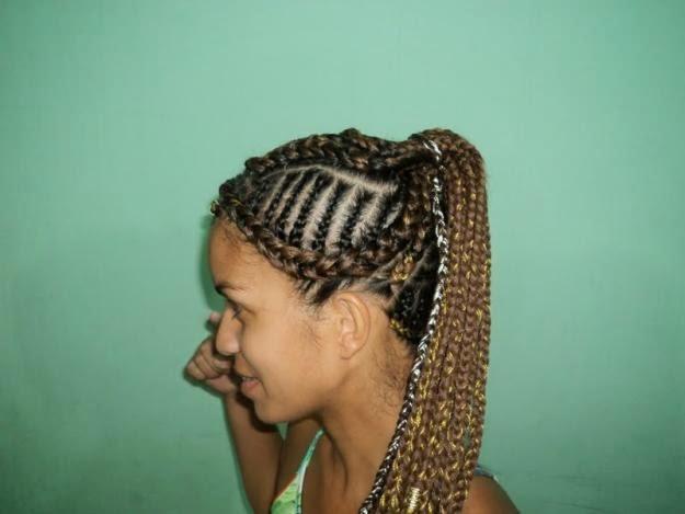 tranças afros estilizados