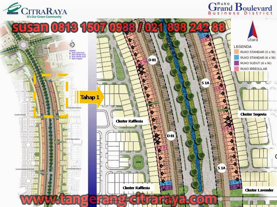 Siteplan Ruko Grand Boulevard Citra Raya