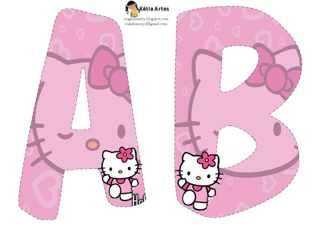 Alfabeto de Hello Kitty para Colorear  Oh my Alfabetos