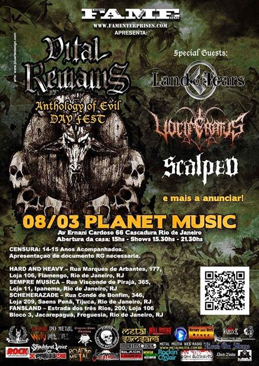 Vital Remains no RJ