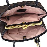 COACH Signature Framed Carryall Handbag 20105