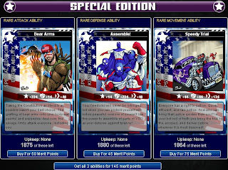 Independence ability card set at Superhero City