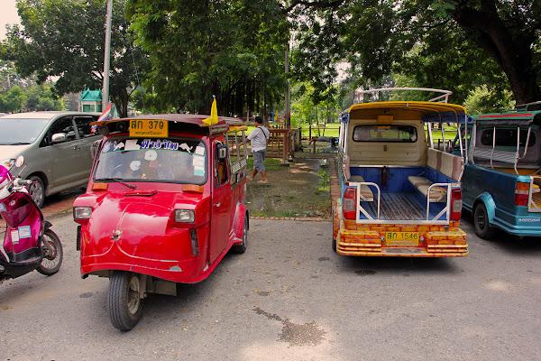 Tuk-tuk en Ayutthaya Tailandia