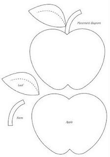 molde de maçã para aplicação em patchwork