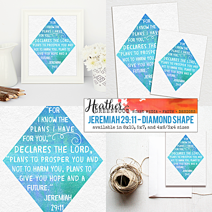 Jeremiah 29:11 - For I Know The Plans I Have For You, Declare The Lord... | Heather Greenwood Designs Etsy Shop
