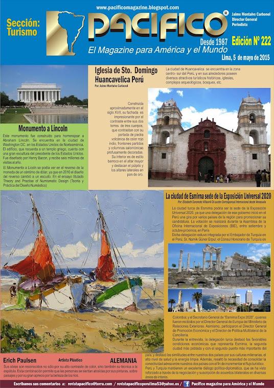 Revista Pacífico Nº 222 Turismo