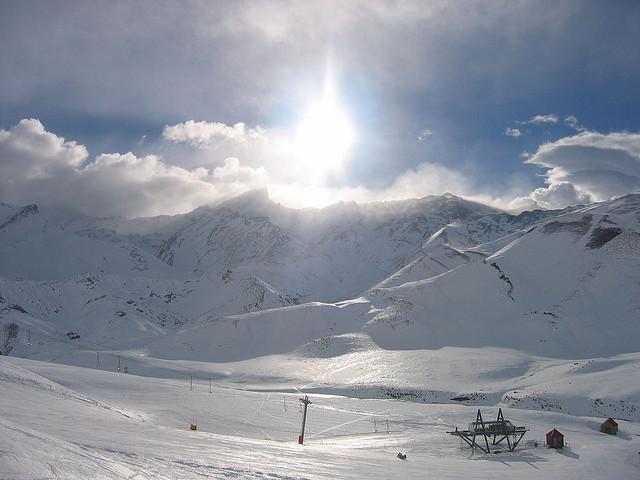 las lenas skiing