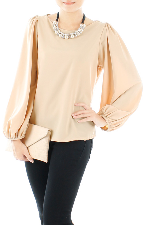 Fiesta Long Sleeve Blouse - Wheat