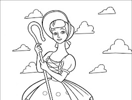 Bo Peep Toy Story Coloring Pages