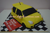 3D car cake~hand sculpted