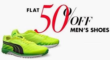 Amazon: Flat 50% Off on Men's Footwear (Woodland, Puma, Fila, Reebok & many More)