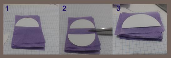 Preparación del papel de seda