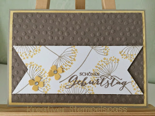 Karte,Summer Silhouettes, Stanz- und Falzbrett für Geschenktüten, dreifach einstellbare Fähnchenstanze