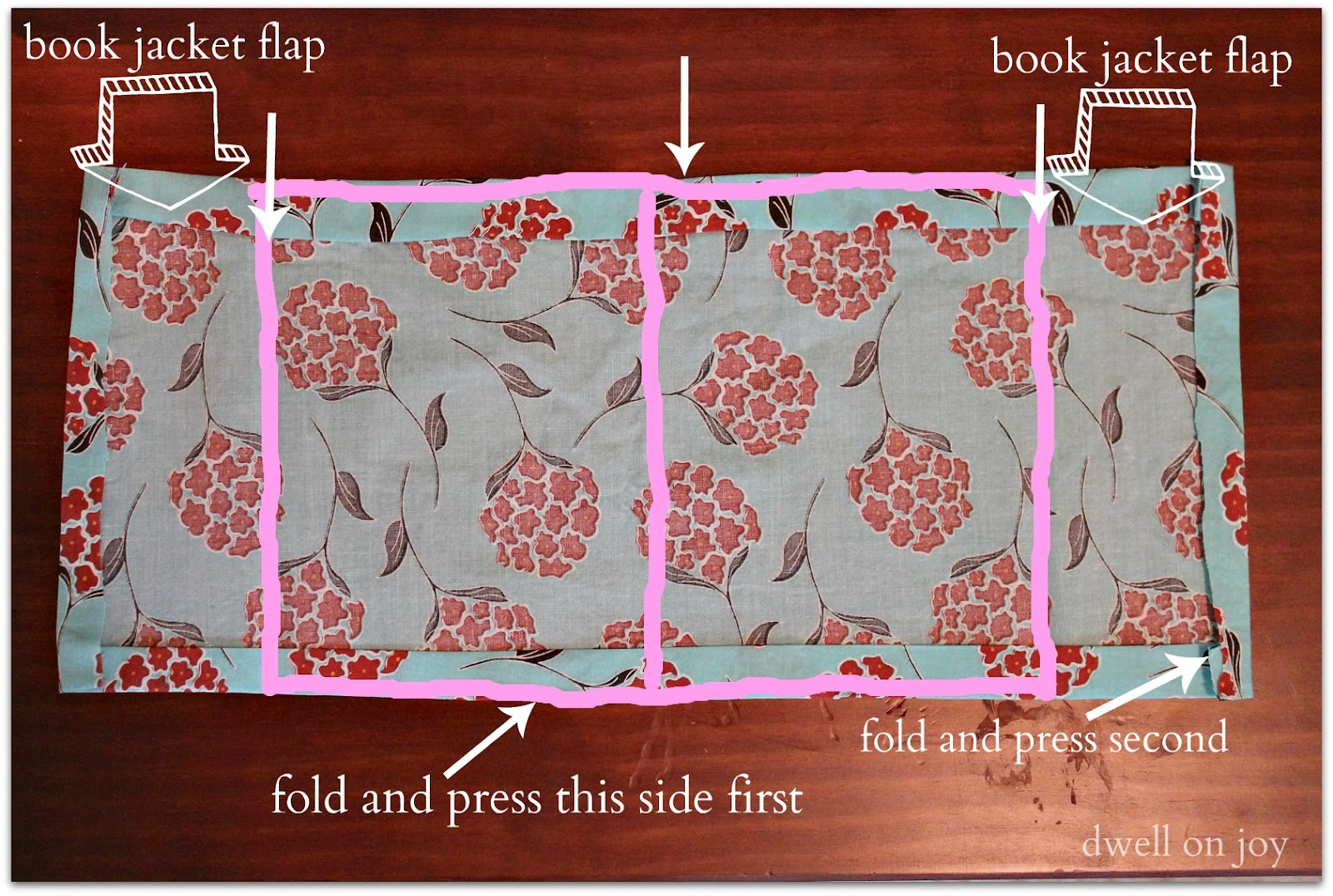 Sewing A Book Cover Tutorial ~ Sewing project fabric journal cover tutorial