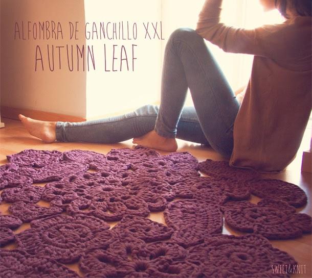 SusiMiu | Patrón de Alfombra de Ganchillo XXL Autumn Leaf. Muestras ...
