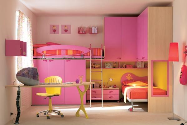 Dormitorios rosa para dos ni as dormitorios con estilo for Cuartos de ninas sencillos