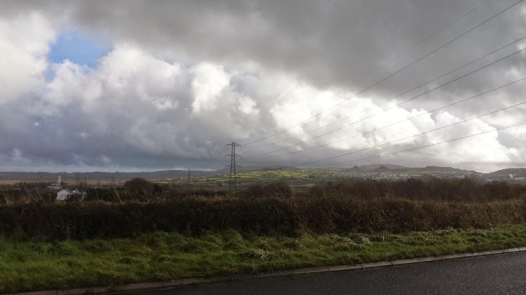 Looking towards St Dennis Cornwall