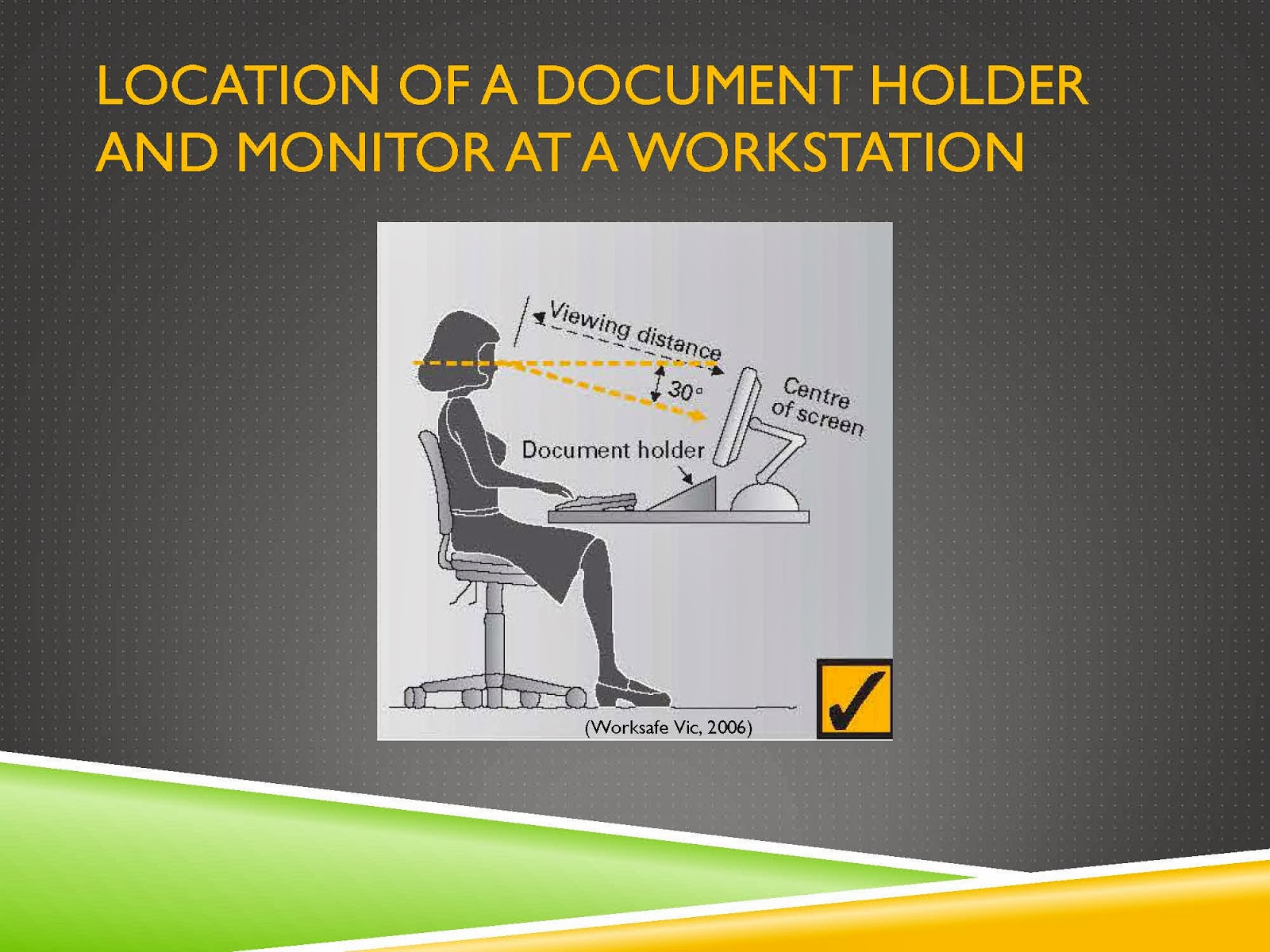 LOCATION OF OFFICE ERGONOMICS