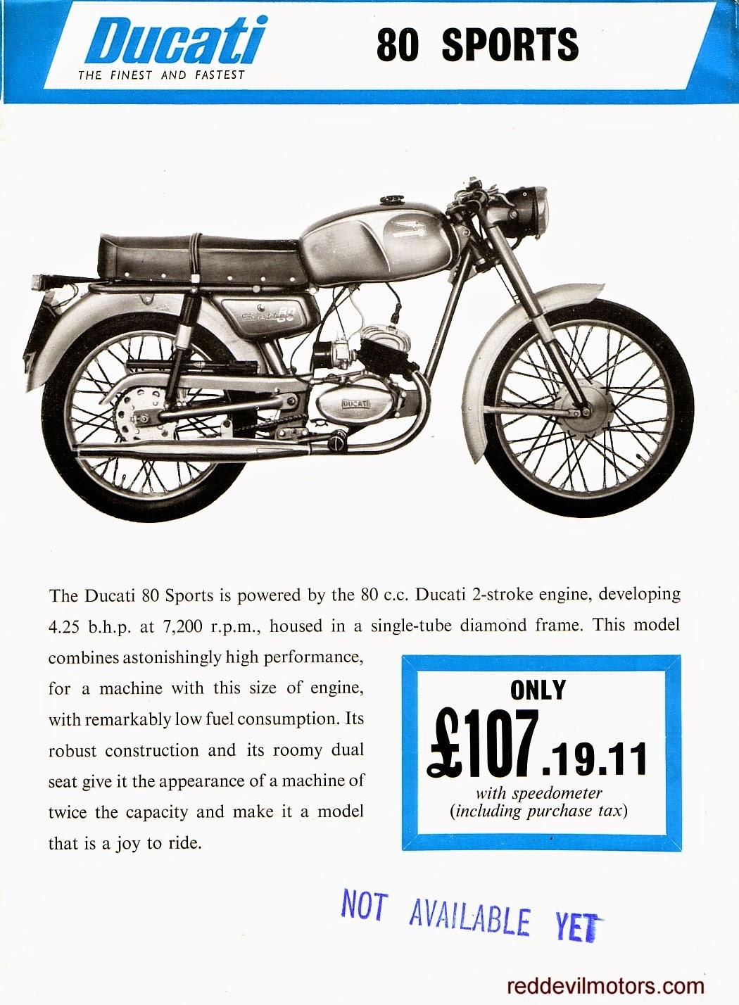 Ducati 80cc Sports model