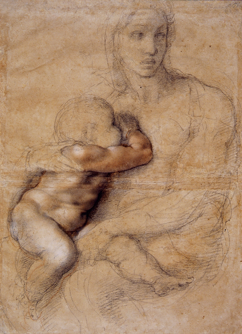 Michelangelo Buonarroti 1475-1564 | Madonna and Child 1520-1525