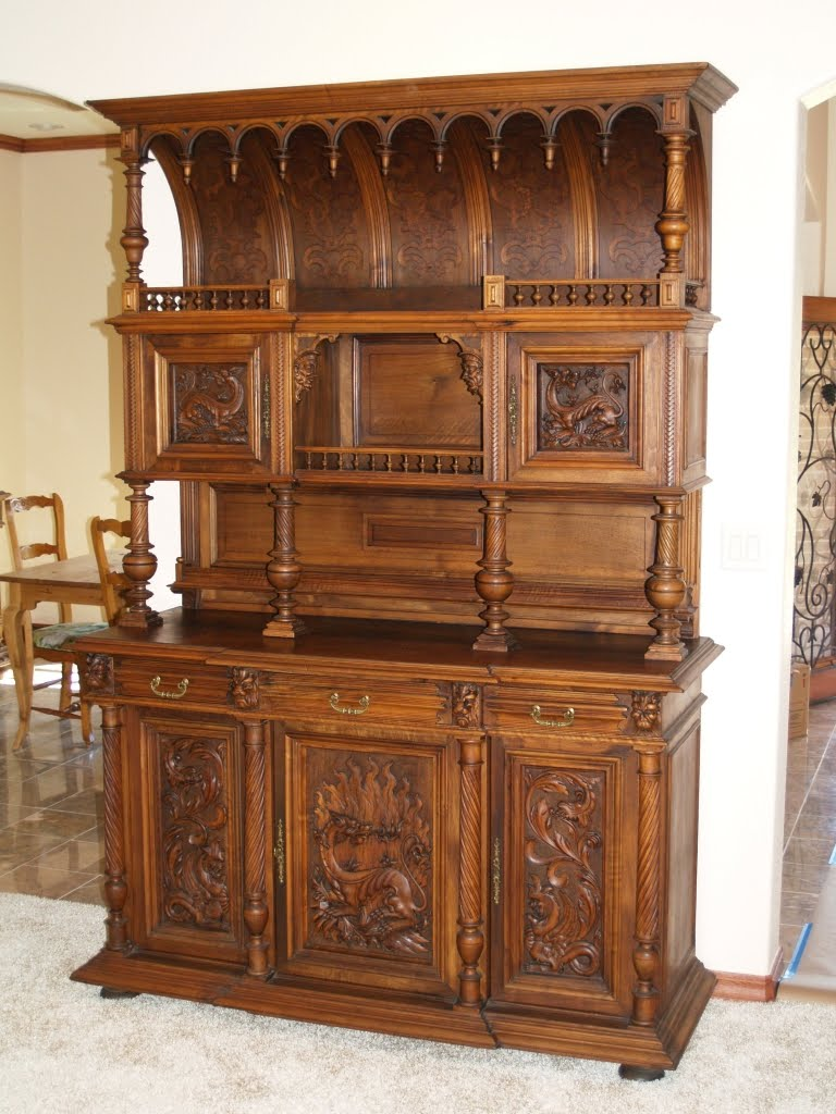 Old Wooden Furniture ~ Walnut wood furniture at the galleria