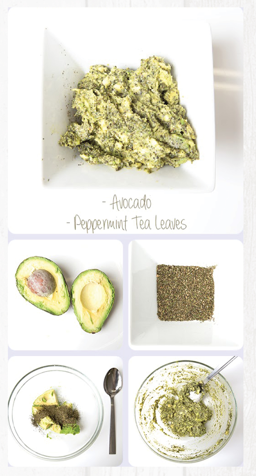 Homemade Avacado and Peppermint Tea Hair Mask