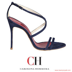 Queen Letizia Style CAROLINA HERRERA Sandals and CAROLINA HERRERA Dress