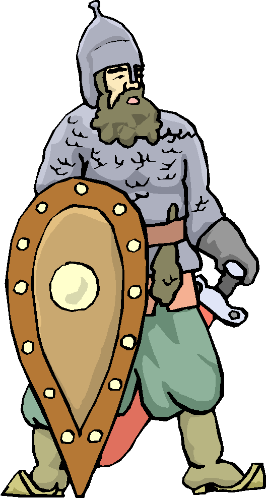 Standing Warrior with Shield Free Clipart