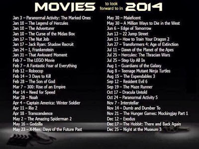 movie 2014, cerita best 2014, kaki wayang, di pawagam 2014, senarai movie, the hobbit, dracula