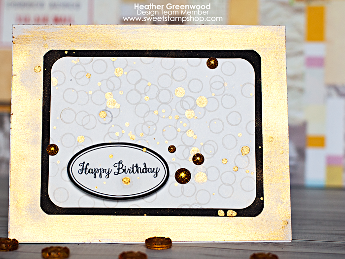 Heather Greenwood | Happy Birthday card using Juggling Act by Sweet Stamp Shop