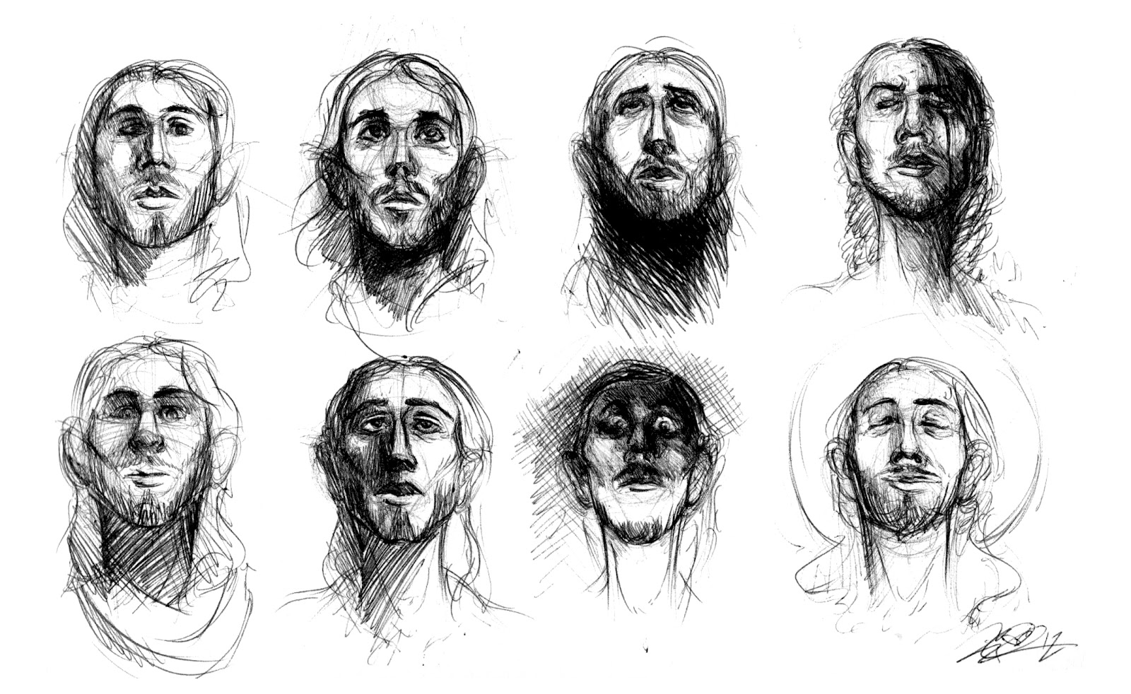 Woman Looking Up Drawing How To Draw The Head Side View Youtube I Drew  Jesus's Face