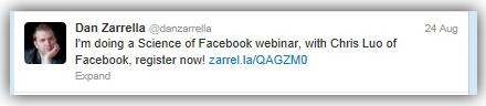 promotion d'un webinar par l'animateur sur les réseaux sociaux